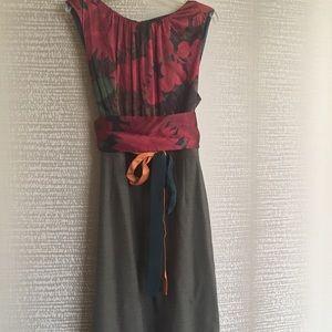 Sleeveless multi-color dress by Elie Tahari.